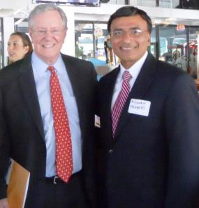 Dr. Dipnarine Maharaj and Steve Forbes