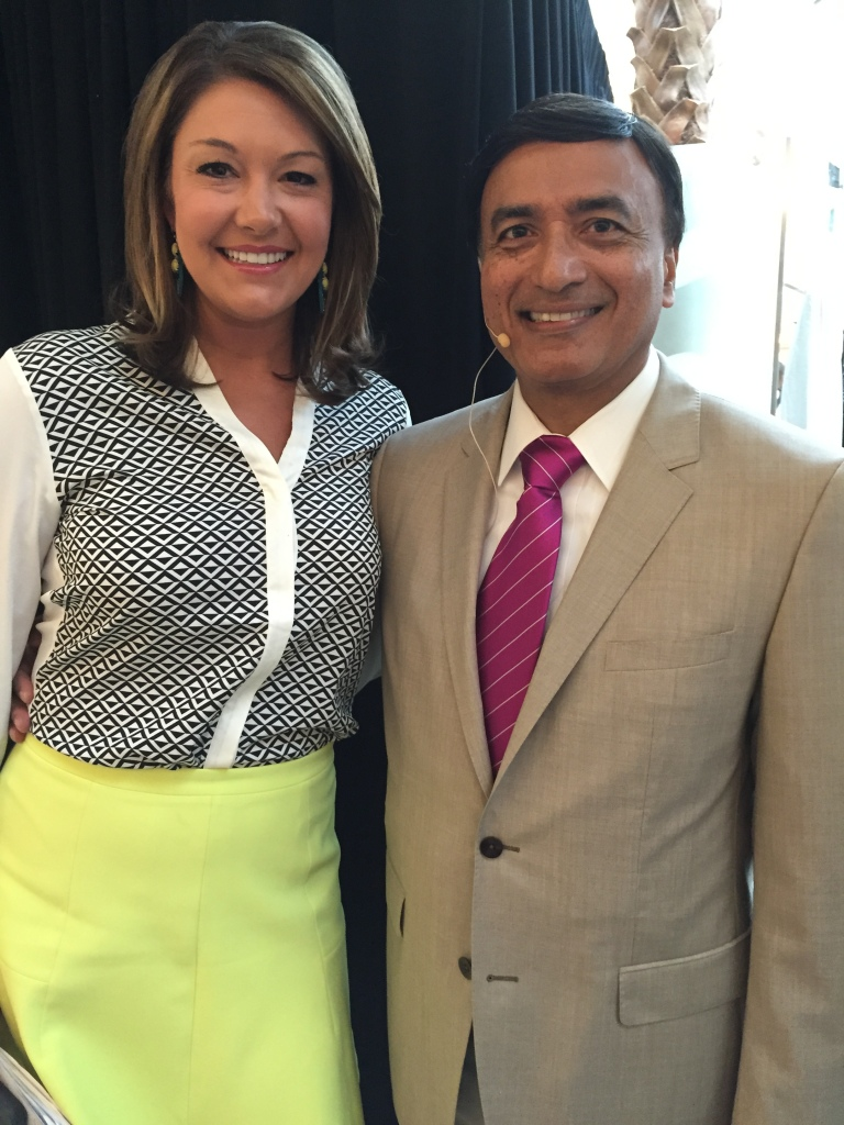 Dr. Dipnarine Maharaj with WPBF Anchor Erin Guy