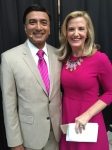Dr. Dipnarine Maharaj with WPBF Anchor Tiffany Kenney